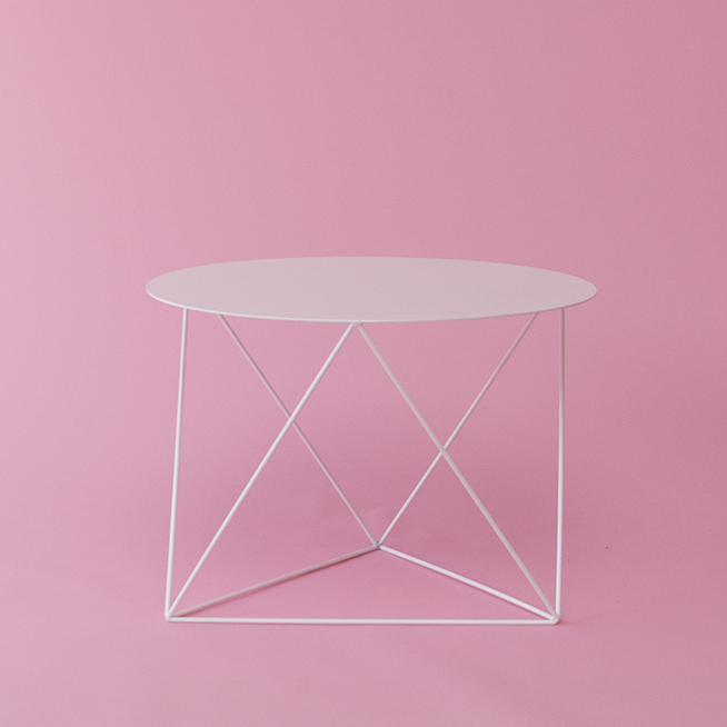 Octahedron Side Table_pinkbg Copy