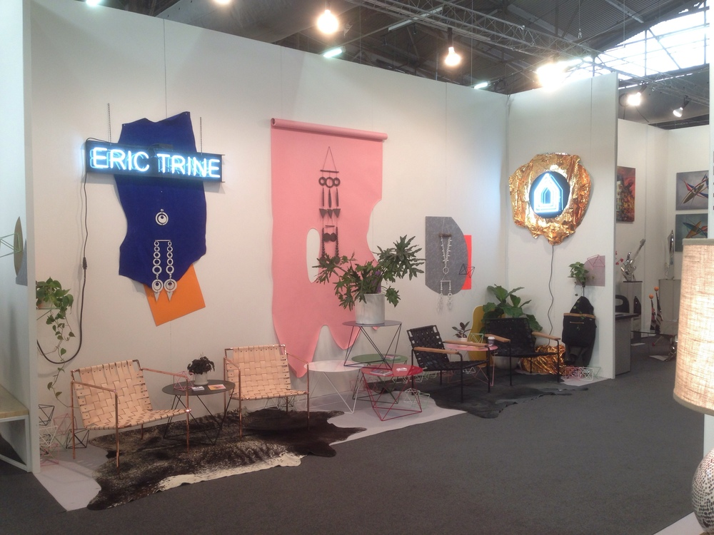 Booth Situation - Rugs courtesy of Pure Rugs LA, and wall hangings from Heather Levine