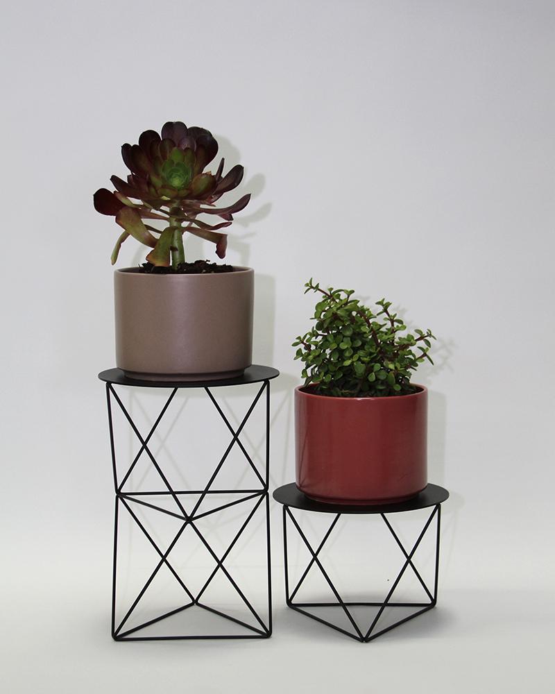 Double octahedron pedestal eric trine - Pedestal para plantas ...