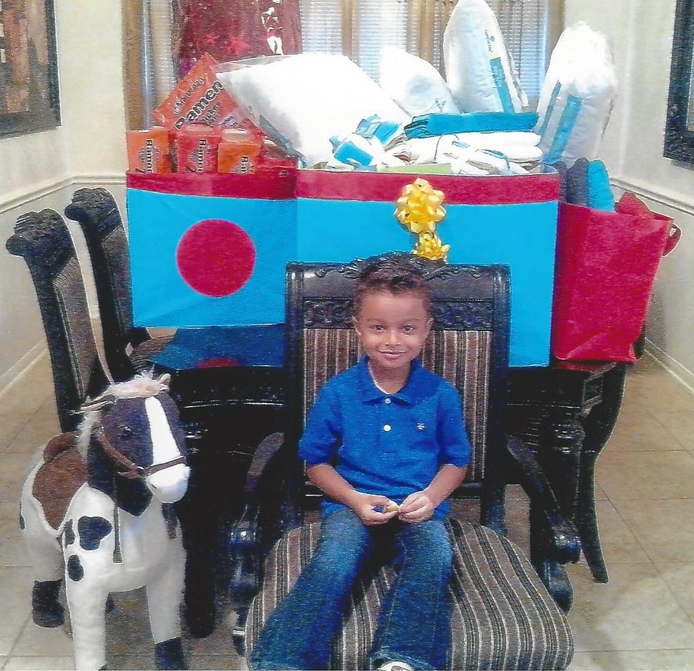 Elijah Stinson celebrated his 5th Birthday - blessed with so much already his parents requested that friends and family donate gifts to the Family Crisis Center in his honor.