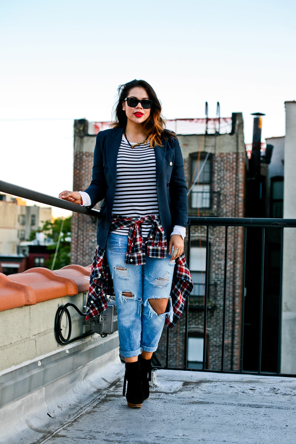 christina-topacio-profresh-style-stripes-plaid-boyfriends-jeans-zara-nyc-blogger-rooftop-photo