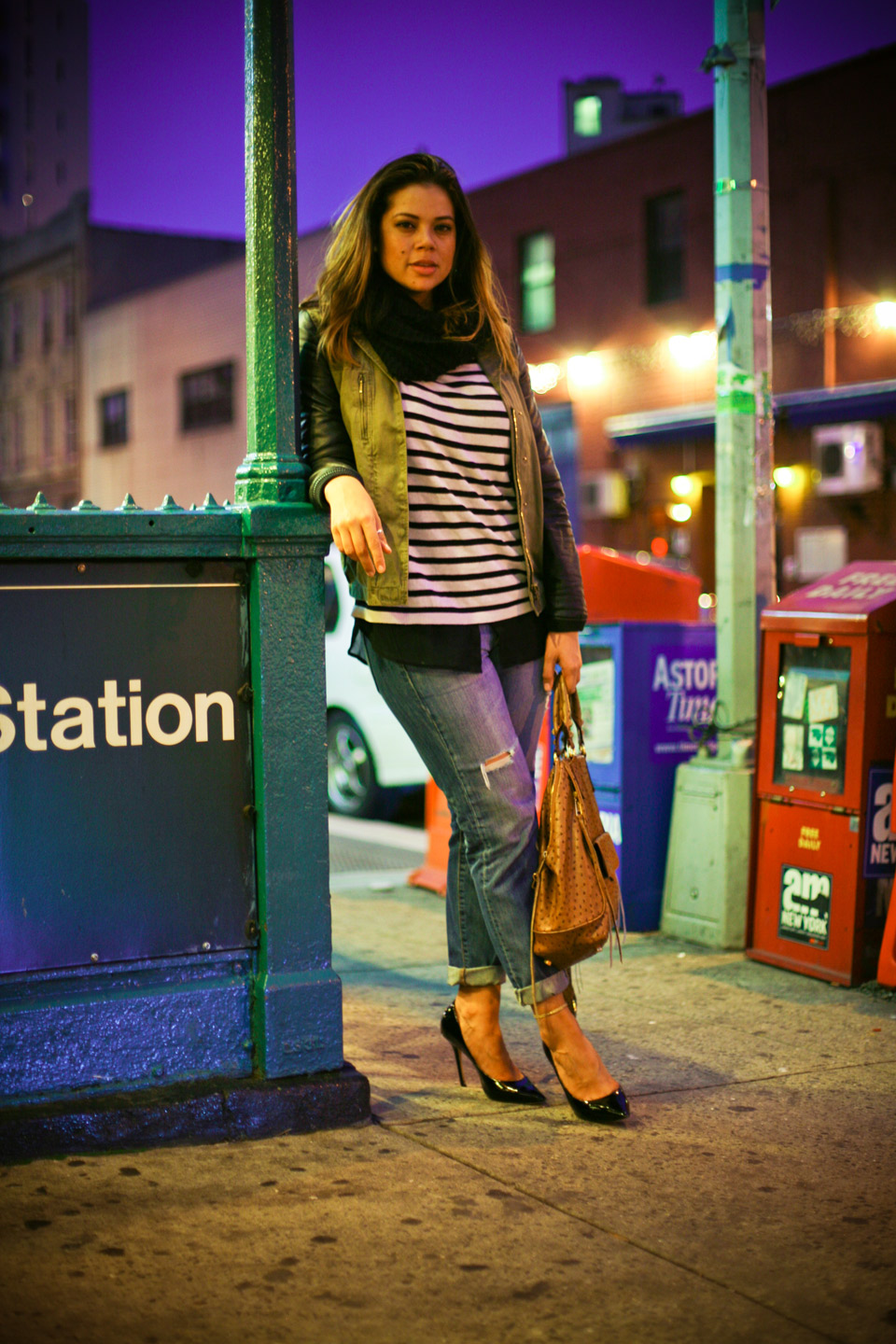 profresh-style-christina-topacio-zara-jacket-striped-shirt-ripped-jeans-eating-in-astoria-bloggers-and-friends-nyc-blogger-4