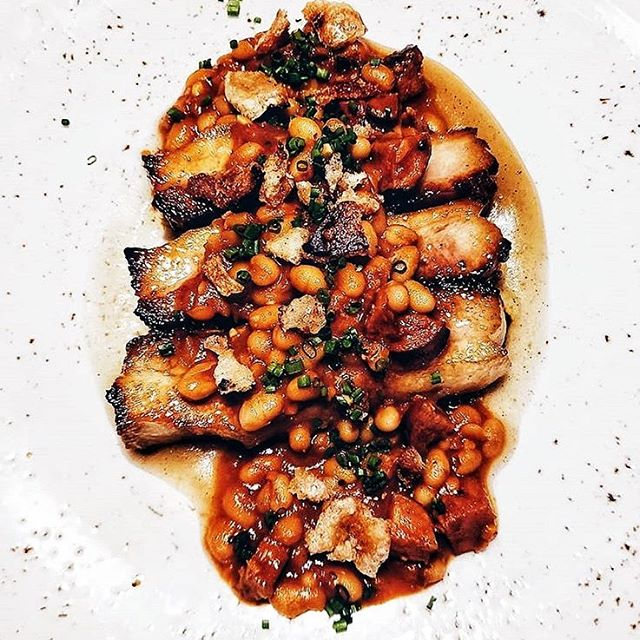 NEW FALL MENU: here's a sneak peek of one of our new menu items. Pork Belly Cassoulet from the imagination of Head Chef @bendaiken.  Photo by @akim_hobo