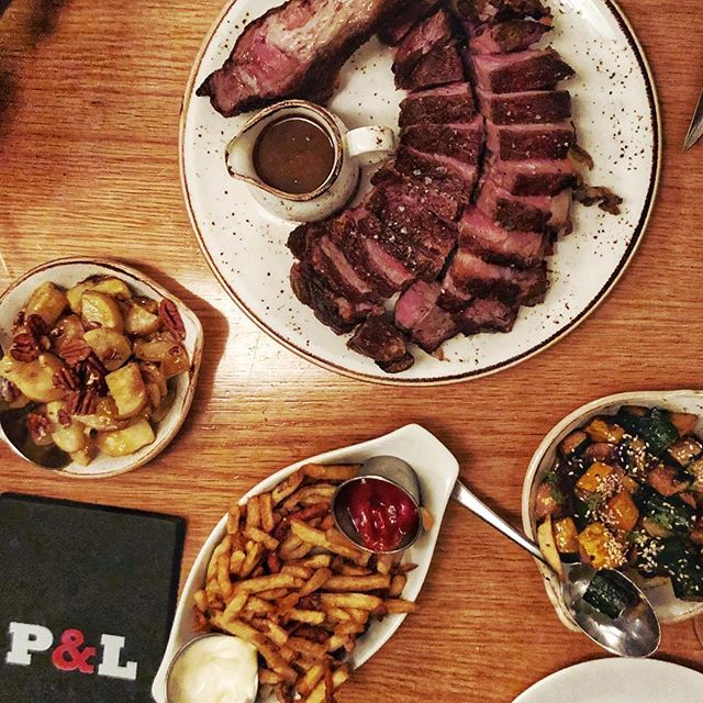 Every Thursday! 1/2 price 🥩 and 🍷. This bad boy weighed in at around 50 ounces.  Photo by @detourtoronto