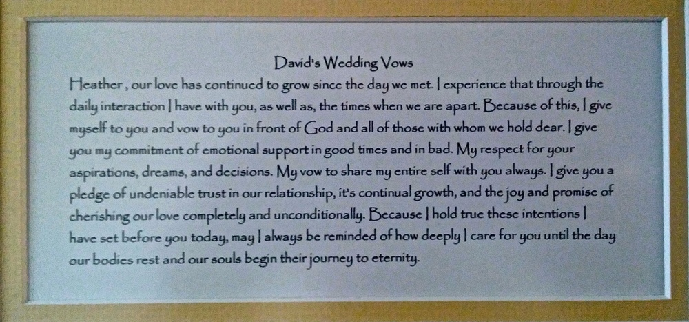 Help with writing my wedding vows