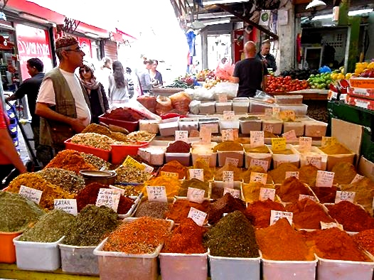 Spices in the Carmel market-Tel Aviv