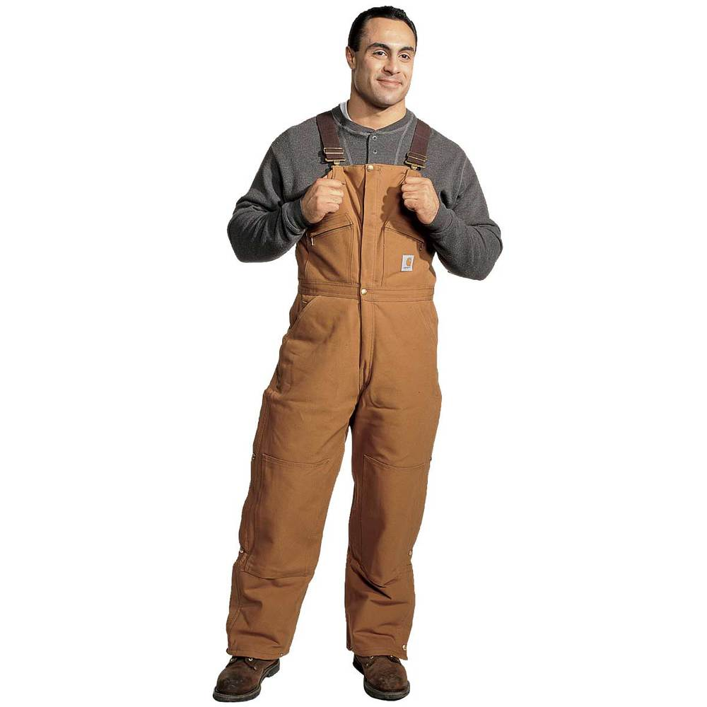 Mens Brown Bib Pant