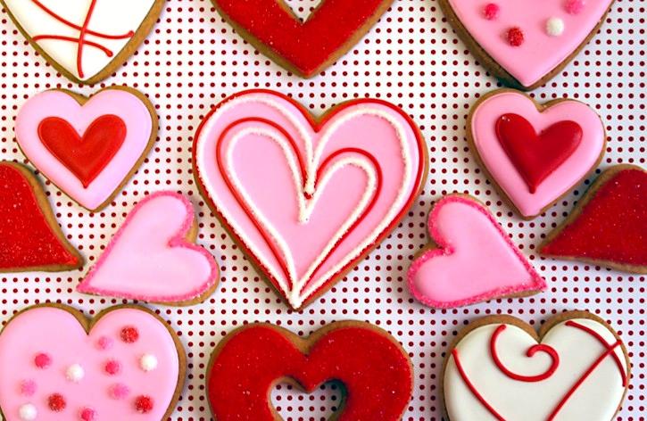 Decorative Valentine Hearts Cookie Gift Set