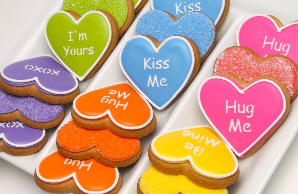 Valentine's Conversation Heart Cookies