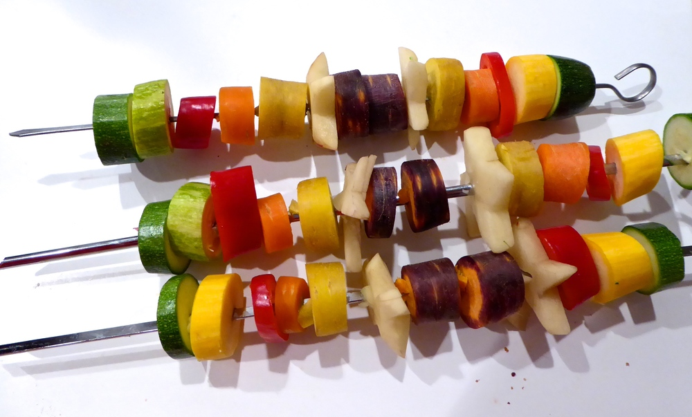 Veggies on a BBQ skewer
