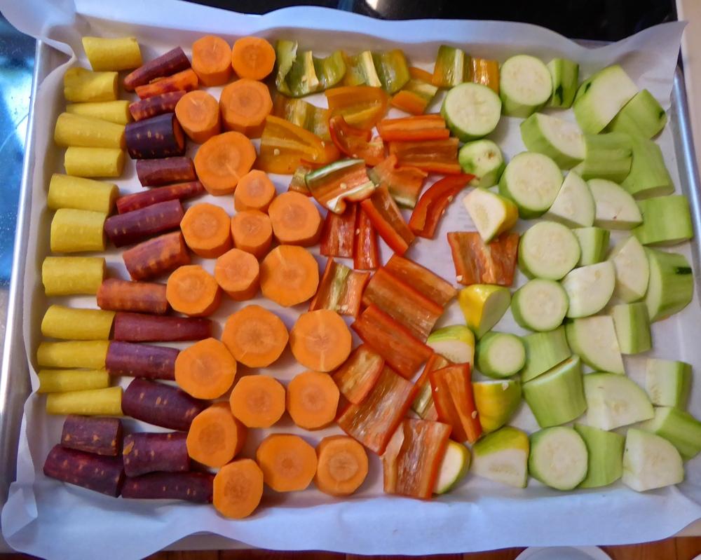CSA box veggies