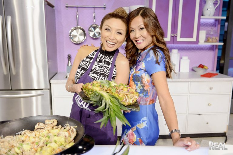 """I had such a blast surprising my bestie Jeannie Mai on her Fox talk show, The Real! We made her fave dish, Pineapple Fried Rice. A recipe from my new cookbook, """"Everyday Chinese Cookbook: 101 Delicious Recipes From My Mother's Kitchen!"""" - See more at: thesweetandsourchronicles.com"""