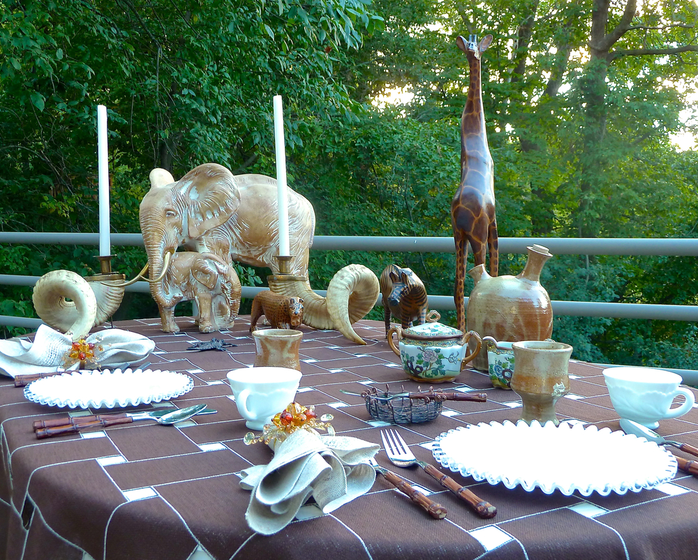 Table setting & photo by Cindi Sutter