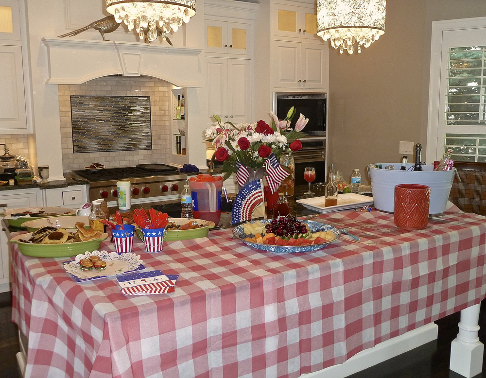 4th of July is not that far away!   Table setting-Mike Moore Photo by Cindi Sutter