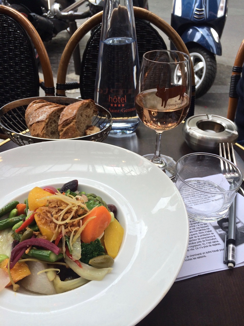My Favorite Lunch at Le Comptoir  (photo by Lisa Michaux)