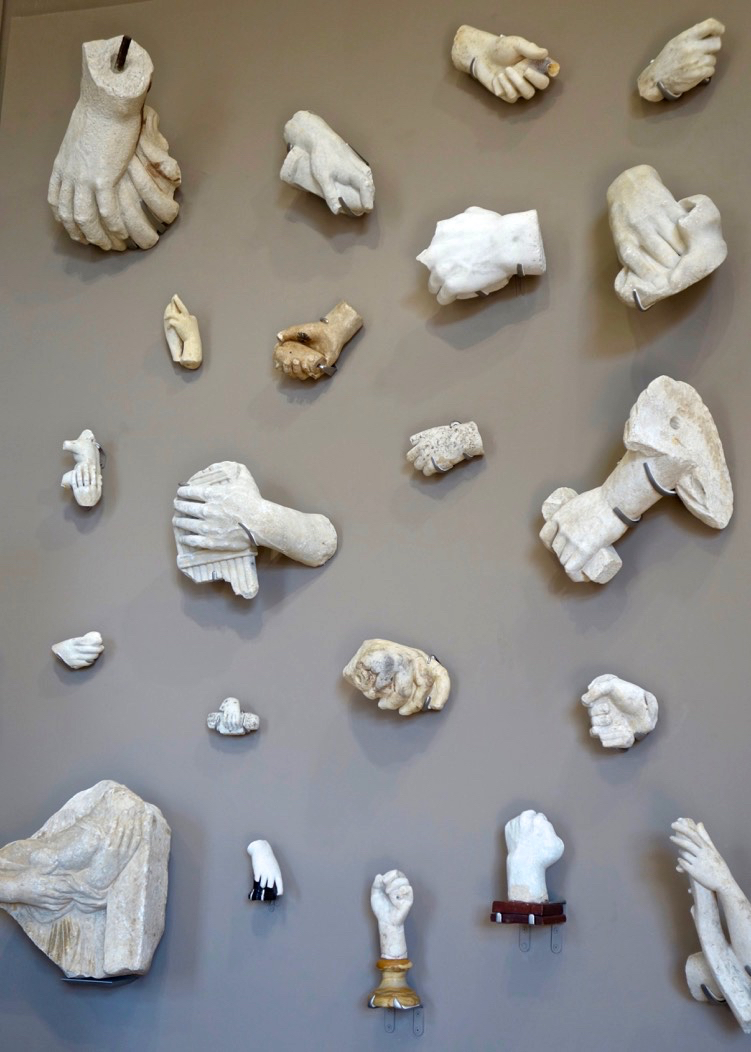 Wall of Hands, Musée Rodin, Paris (Photo courtesy of Lisa Michaux)