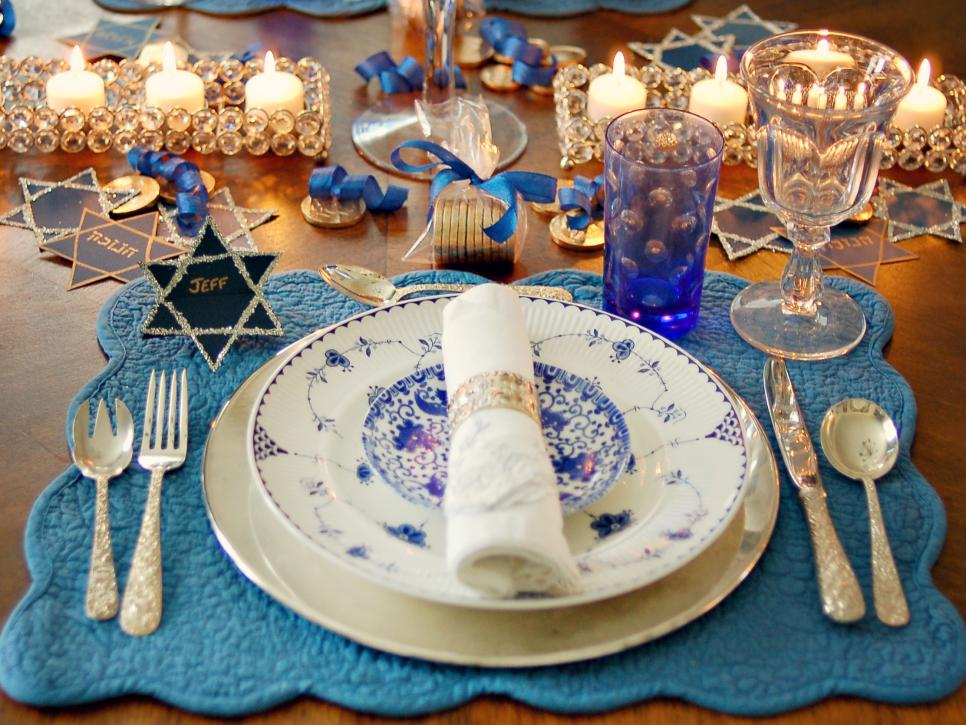 Hosting a Sparkling Blue and White Hanukkah Celebration