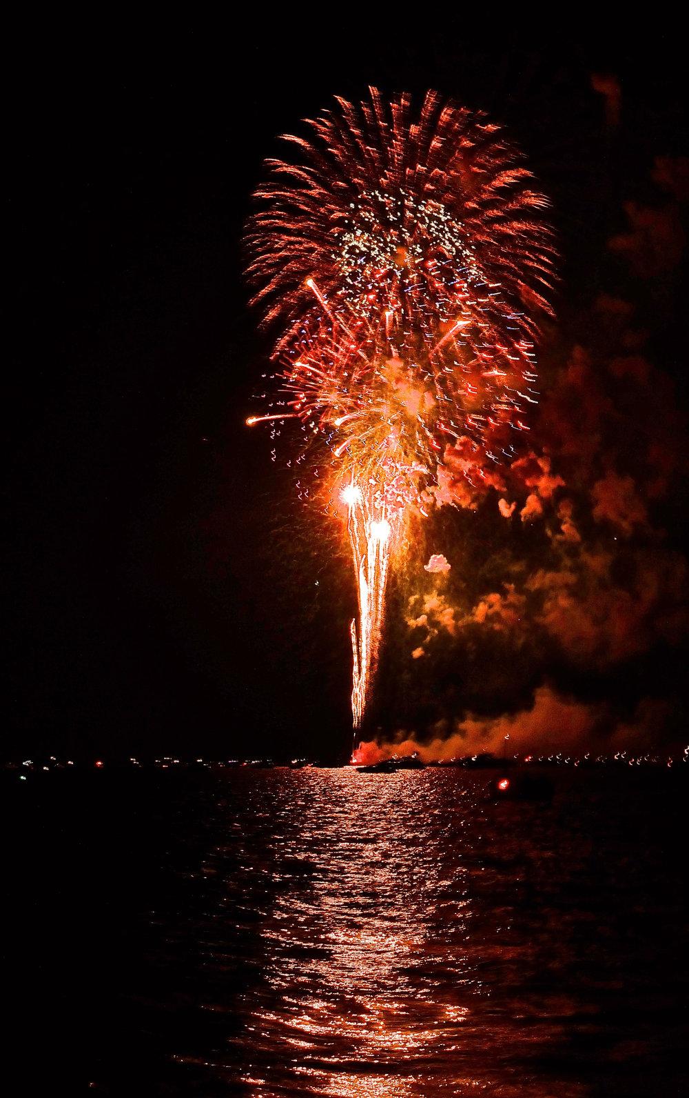 Fireworks on Lake Minnetonka