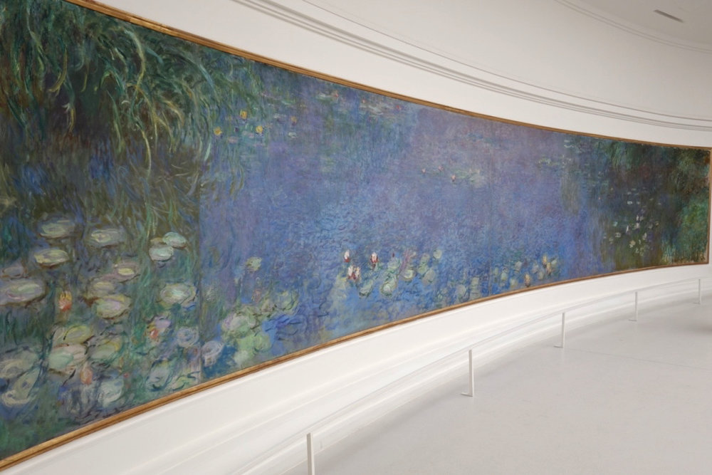 Claude Monet,  The Water Lily Pond, Morning at the Musée de l'Orangerie, Paris   (photo courtesy of Lisa Michaux)