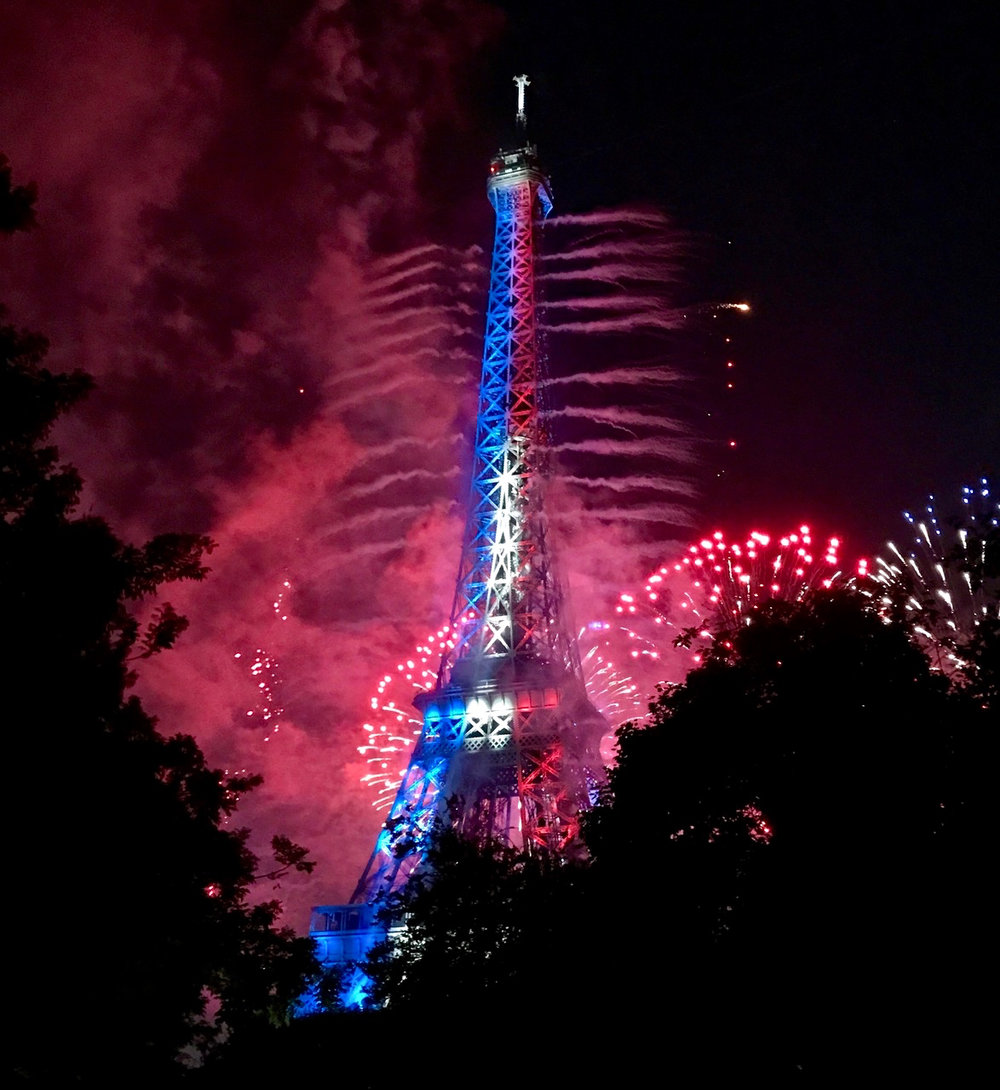 Red, White, and Blue Tower  ( Image courtesy of Lisa Michaux)