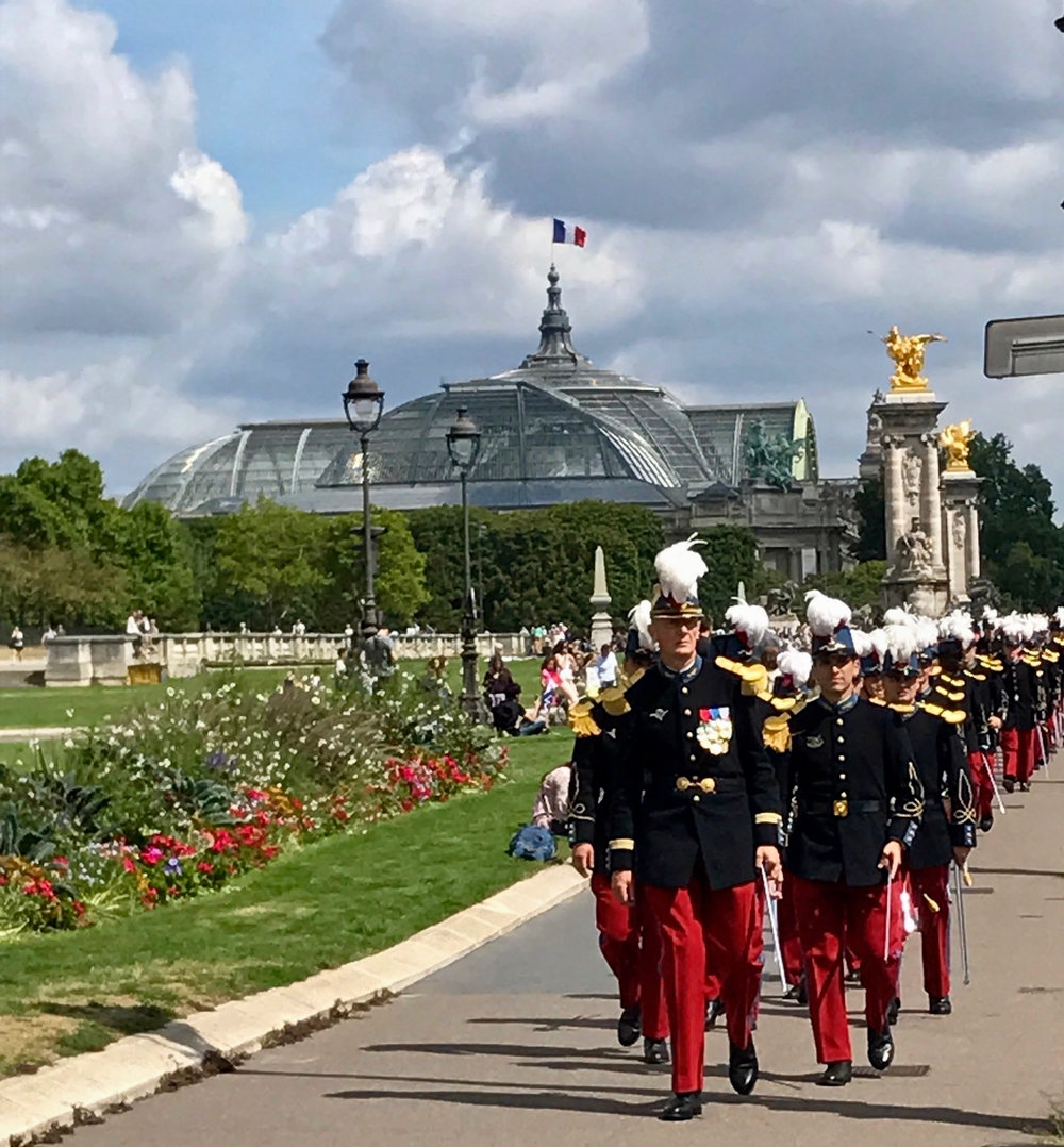 French Military on Parade (Image courtesy of Lisa Michaux)