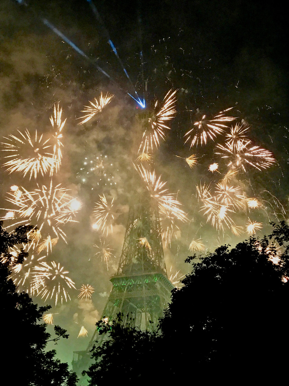 Fireworks finale at the Eiffel Tower (image courtesy of Lisa Michaux)