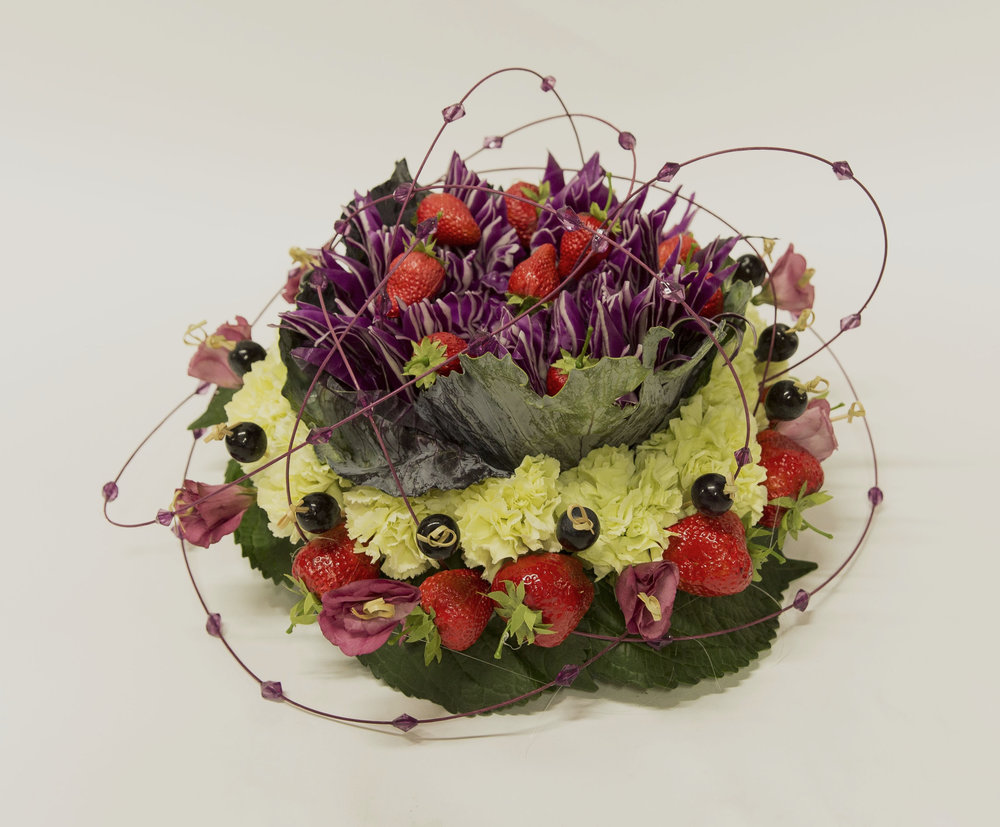 Summer Flower Design - Cabbage! | Spirited Table®