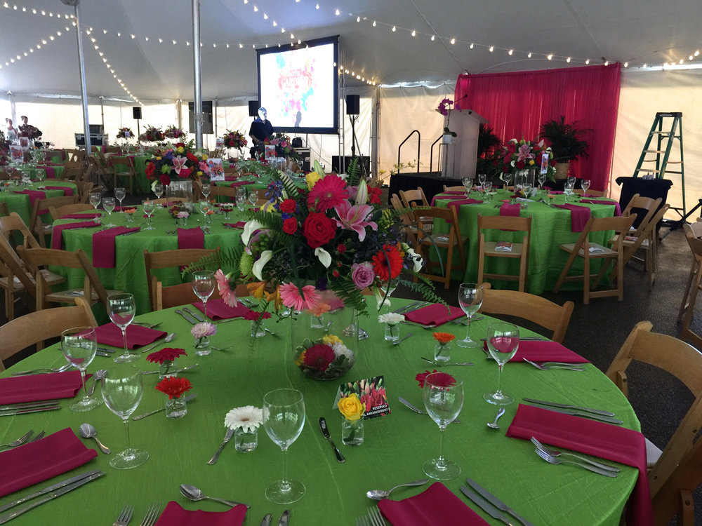 Set up & prep time for the Gala