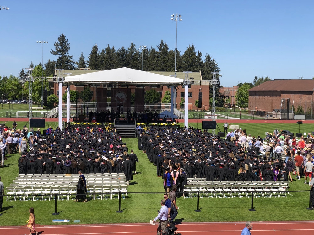 Graduation ceremony - University of Puget Sound, Tacoma, WA