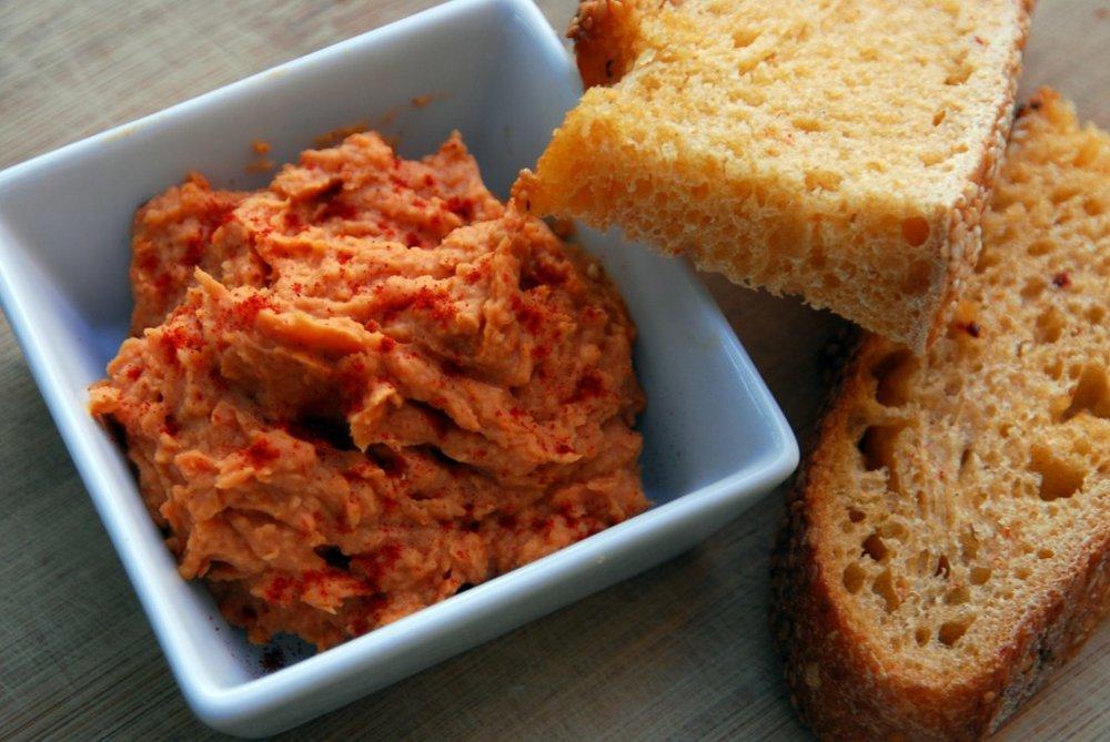 image from afterdinnerdance.com http://afterdinnerdance.com/sun-dried-tomato-white-bean-dip/