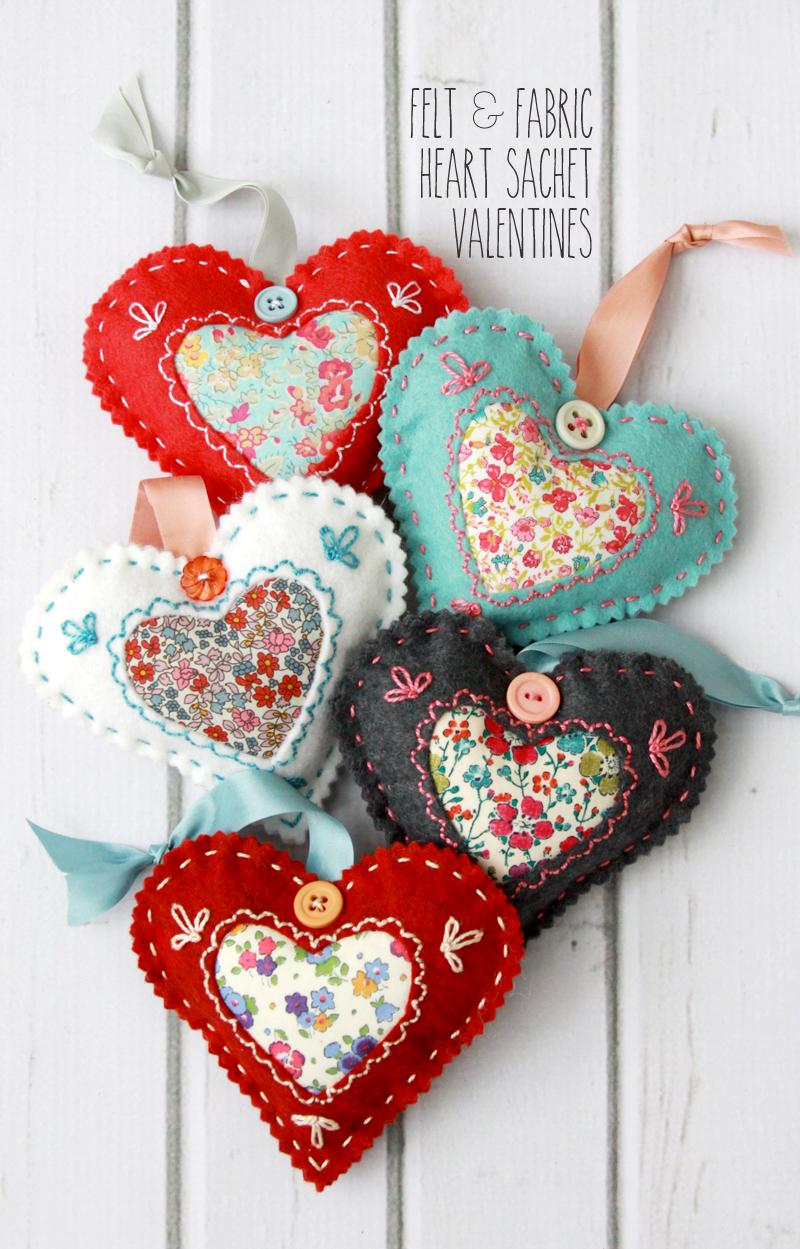 DIY Fabric Hearts