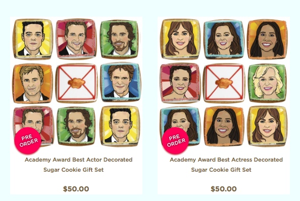 Oscar Nominees Cookies from elenis