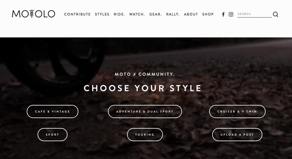 Motolo.co Homepage