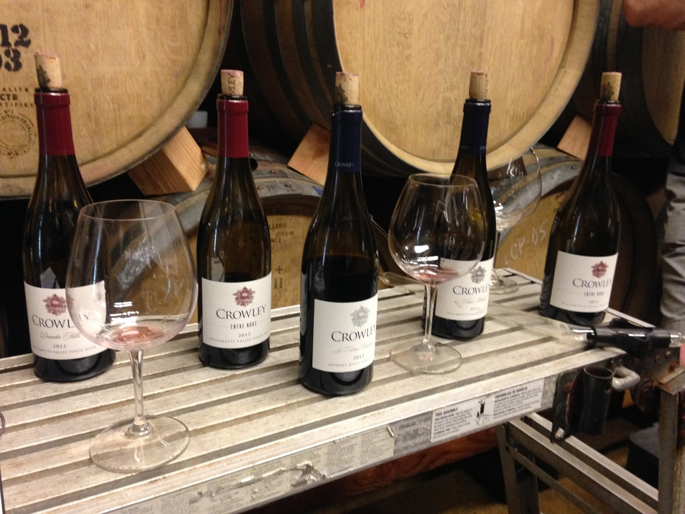 Tasting at Crowley Wines, July 2015.