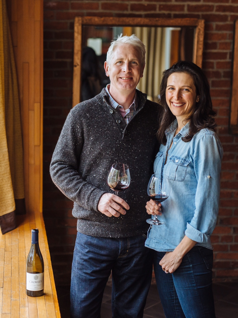 Tyson and Emily Crowley. Image courtesy of Crowley Wines.