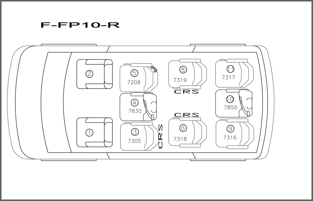 Ford/Chevrolet 10 Passenger Ford E350/Chevrolet 3500 Non-Extended