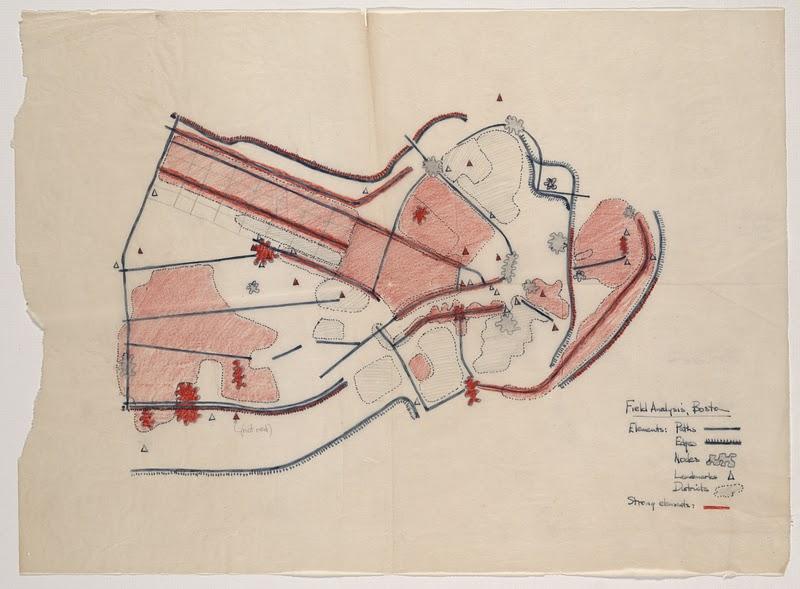 Полевой анализ Бостона (Кевин Линч, 1960)