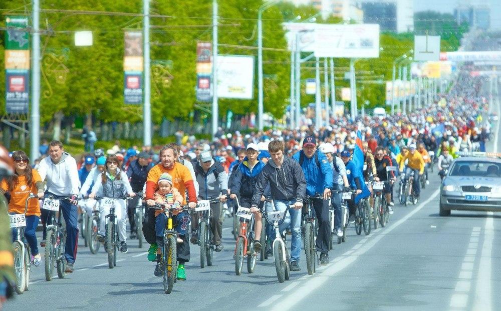 День тысячи велосипедистов, организованный союзом ВелоУфа, 2013