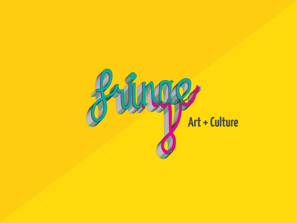 The duo at Fringe Art and Culture weren't really sure what they wanted from the branding of their passion venture. Their quirky logo resulted from several iterations and examples built on discussions, philosophy, and eventually letting their unique personality shine through.