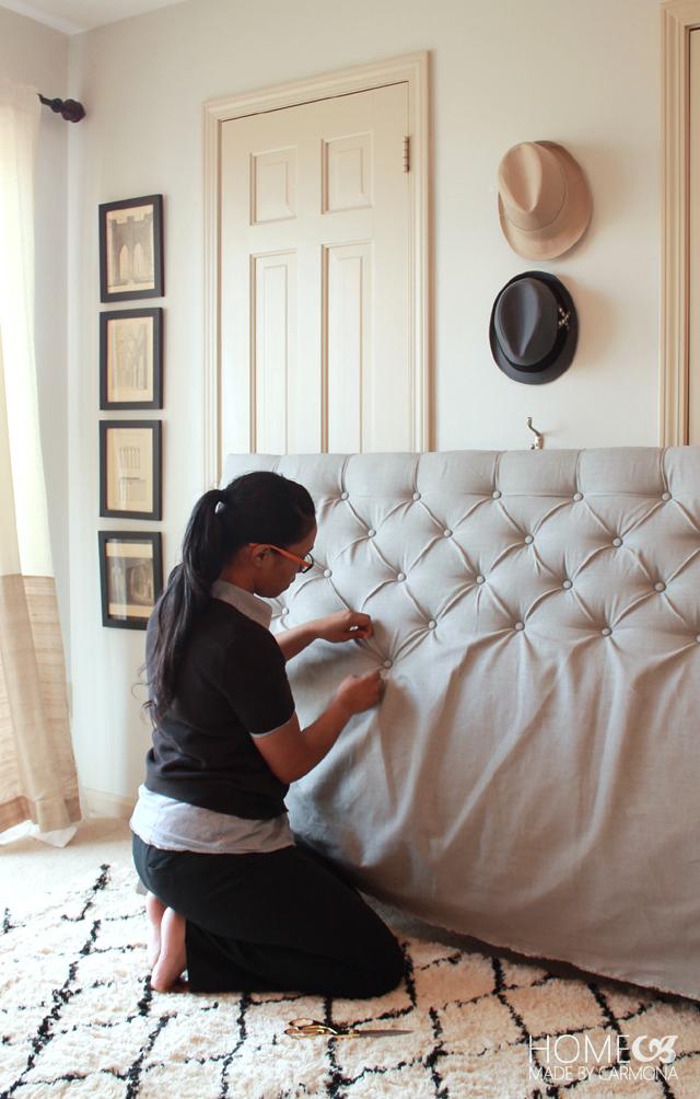 pikowane łóżko do sypialni — H O U S E L O V E S