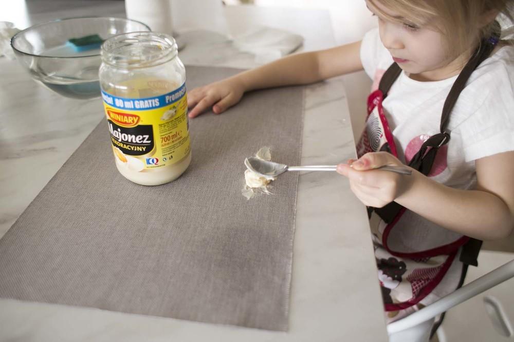 następnie testowałyśmy majonez.. wiecie, tłuszcz, jajko... wszystko tam jest..