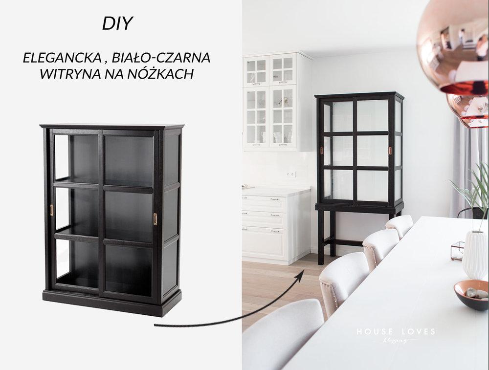 Elegancka Czarno Biała Witryna Na Nóżkach Diy House Loves