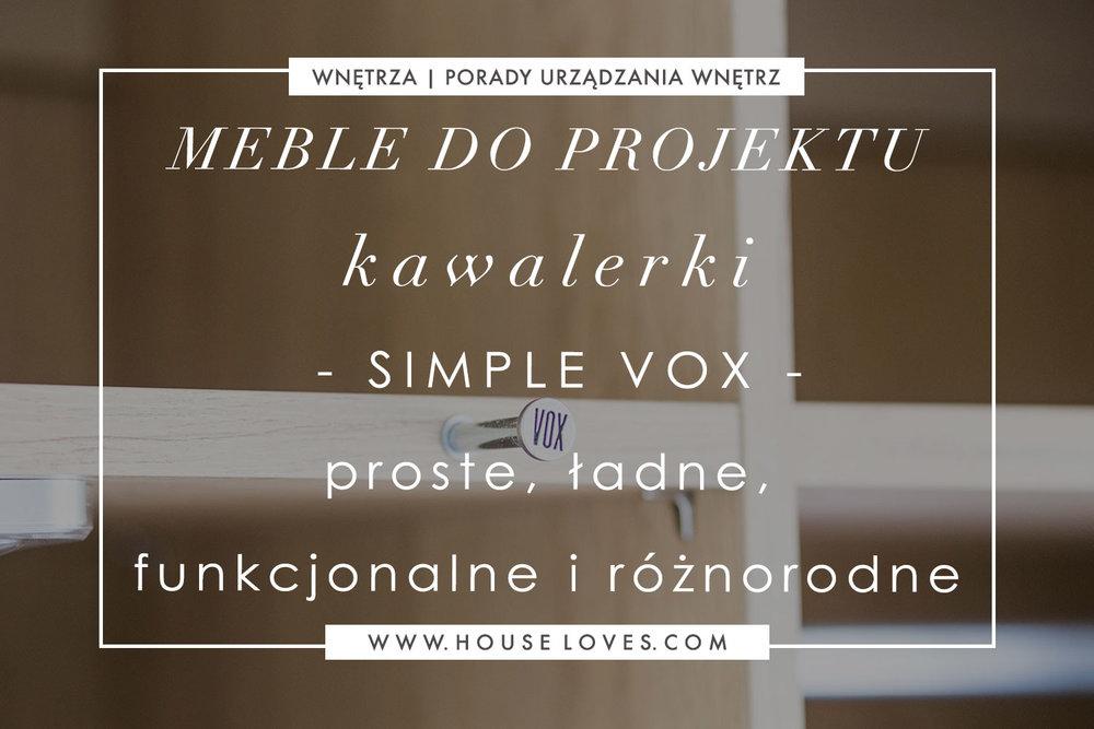 Meble Do Projektu Kawalerki Babci Dziadka Simple Vox Proste