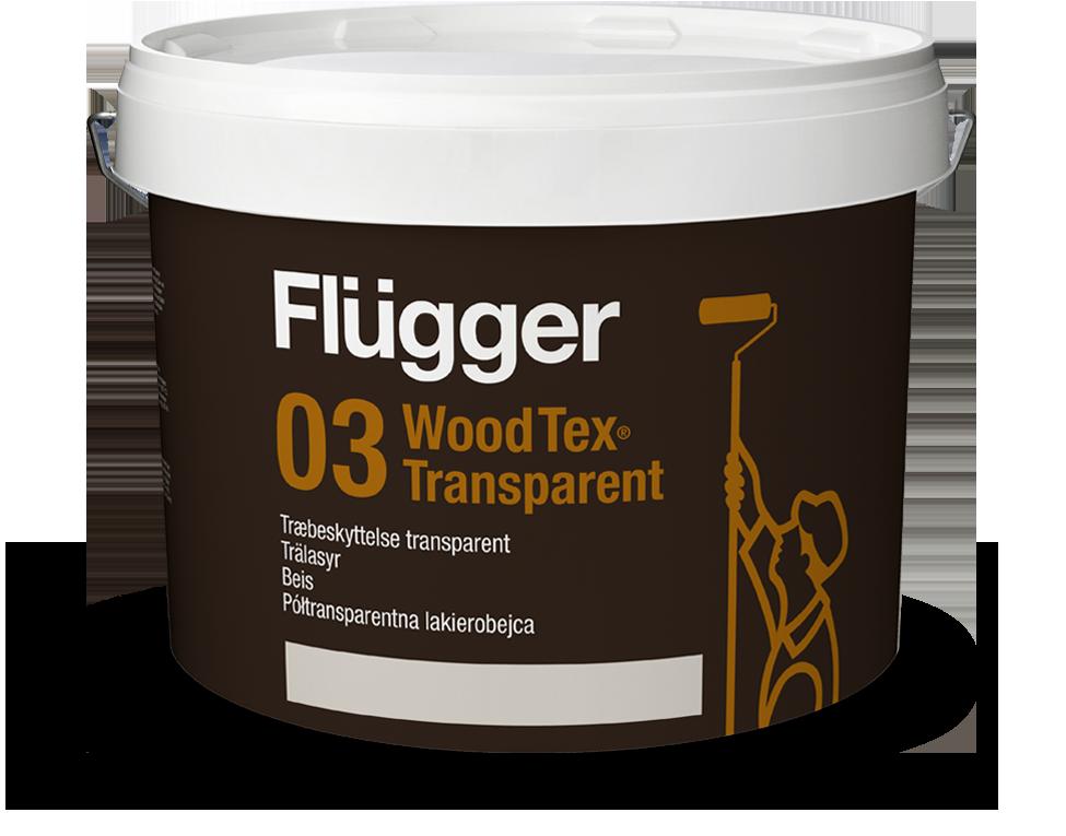Półtransparentna lakierobejca - Flügger 03 Wood Tex Transparent >>> link