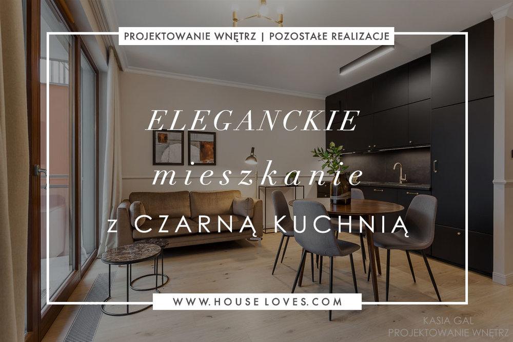 Eleganckie Mieszkanie Z Czarną Kuchnią House Loves
