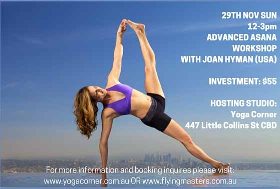 Yoga Corner Melbourne hosts Joan Hyman