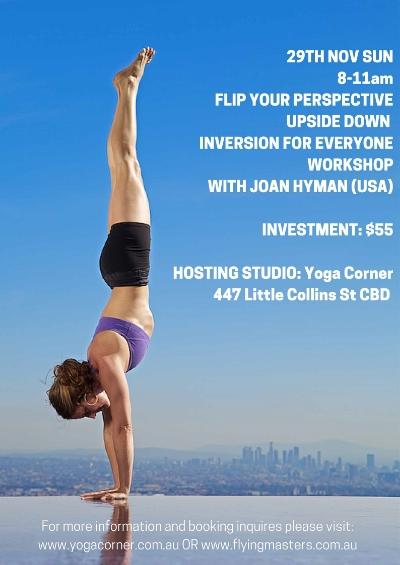 Yoga Corner Melbourne hots Joan Hyman