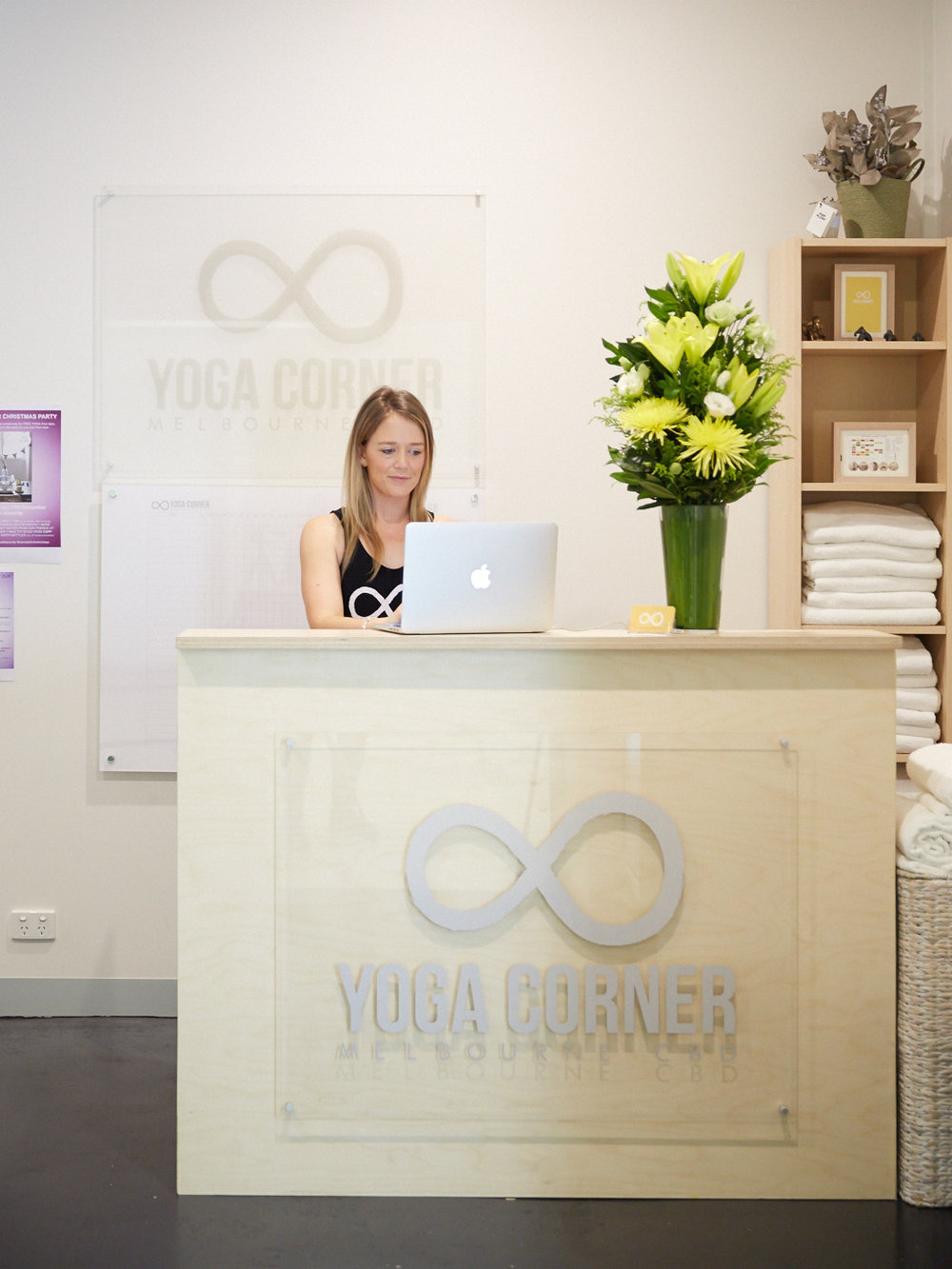 YOGA CORNER MELBOURNE RECEPTION