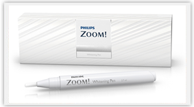 The Philips Zoom pen helps maintain your white smile between professional whitening treatments.