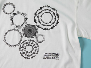 Co-operative    T-shirt and bag design for The Co-operative.